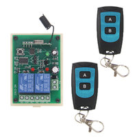 DC 12V 24V 2 CH 2CH RF Wireless Remote Control Switch System Waterproof Transmitter 10A Receiver