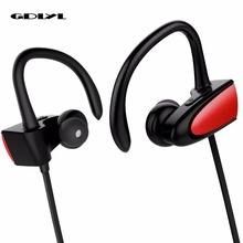 Cheaper Newest GDLYL CSR 4.2 Bluetooth Headphone Wireless Earphone Sports IPX4 Waterproof Headset Ear Hook Hands free With Mic For Phone