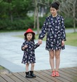 2017 mother daughter dresses fashion mom and daughter dress cotton family look full sleeve floral 4729