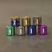 W Titanium Alloy Knife Beads Paracord Can Fits Tritium Gas Tube Knife Lanyard Umbrella Rope Outdoor Cord Gadget EDC Multi Tools