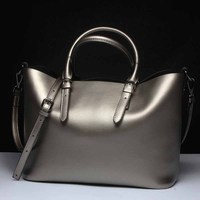 Silver Genuine Leather Shoulder Bags for women 2018 High Quality Luxury Handbags Messenger Bag Big Tote Ladies Hand Bags bolsas