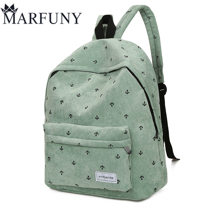 Fashion Corduroy Women Backpack Vintage Daypack For Teenage Girls School Bags 2017 Number Backpack Women Shoulder Bags Sac A Dos corduroy goes to school