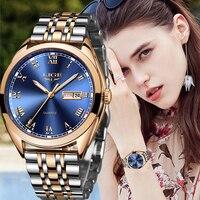 LIGE frauen Uhren 2020 Luxus Damen Uhr Starry Sky Uhren Für Frauen Mode bajan kol saati Diamant Reloj Mujer 2019