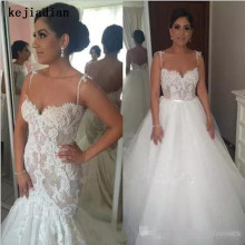 kejiadian Mermaid Lace Wedding dresses detachable train