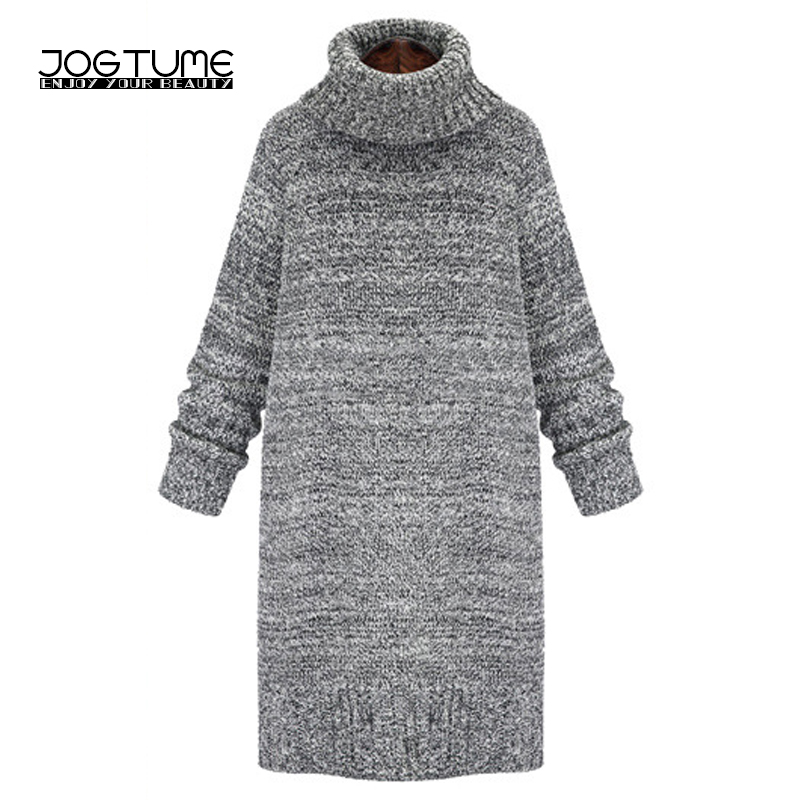 Autumn Winter Women Sweater Dress Plus Size Gray Warm Casual Knit Pullover Sweater Long Sleeve Turtleneck Chunky Sweater Dress спот citilux cl531521