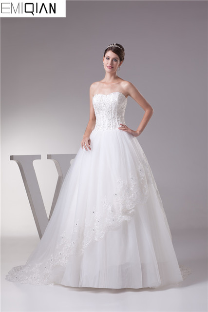 Cheap White Beautiful Lace Affordable Wedding Dress Mermaid Modest ...
