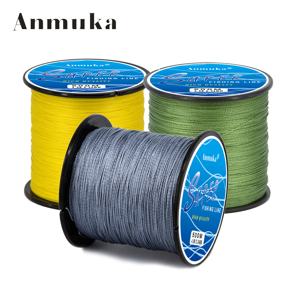 Anmuka Brand fishing line 300M PE Multifilament Braided Fish Line 4 Strands 8lb 80lb Carp Fishing Rope Cord fishing tackle