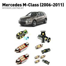Led interior lights For mercedes m-class 2006-2011  16pc Lights Cars lighting kit automotive bulbs Canbus