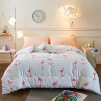 Warm Flamingo Pattern Sanding Comforter Fashion Pretty Quilt Design For Children Adults Home Decoration Fit For