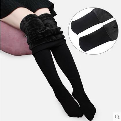2016 nova Outono inverno meias fio espessamento mais virilha meia-calça de veludo espessamento meias passo femininos