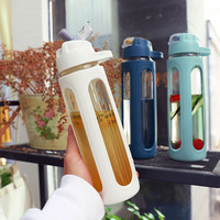 Large Capacity Straw Sports Water Bottles With Handle BPA Free Protable Healthy Glass Outdoor Travel Bottle My Drink Bottle