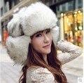 Winter Plush Russo Winter Earmuff Bonnet Russe Ushanka Fur Gorras Chapeu Feminino