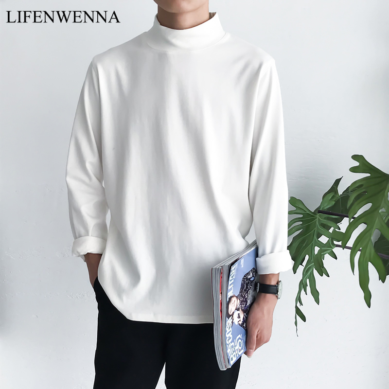 M-5XL Men's T Shirt 2020 New Fashion Solid Long Sleeve T Shirt Mens Clothing Trend Spring Autumn Casual O Neck Top Tees Men Plus