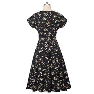 Image 4 - Nice forever vestido de verano de mujer, Retro, flor solar estampada, fiesta de negocios, acampanado