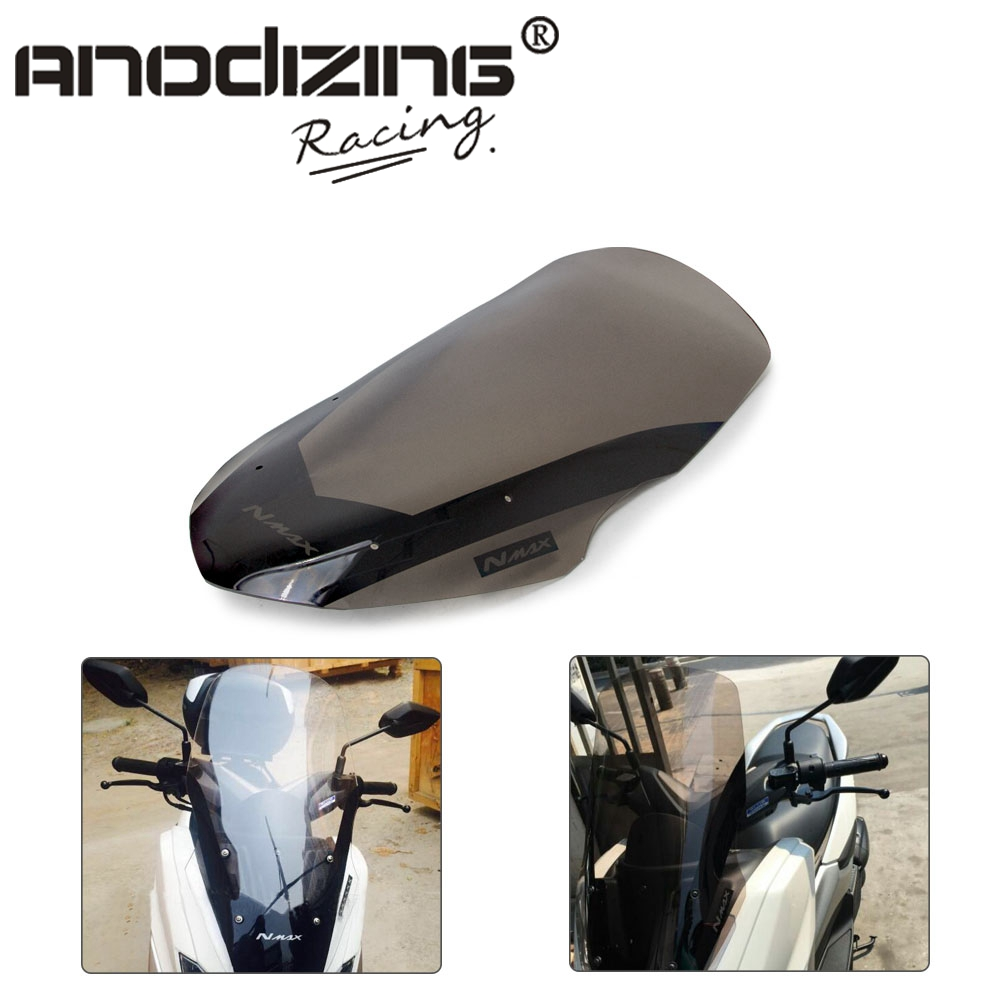 Motorcycle <font><b>Windshield</b></font> Windscreen Wind Deflectors For <font><b>Yamaha</b></font> NMAX155 NMAX125 <font><b>NMAX</b></font> 125 <font><b>NMAX</b></font> 155 2016 2017 2018 image