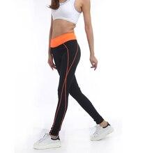 Rylanguage Activewear Black Leggings Sexy Women Orange Leggins High Waist Legging Active Workout American Clothing