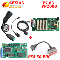 V7.83 diagbox Lexia3 PP2000 with 921815c firmware Diagnostic tool Lexia 3 V48 PP2000 V25 For Citroen for Peugeot +PSA 30 cable