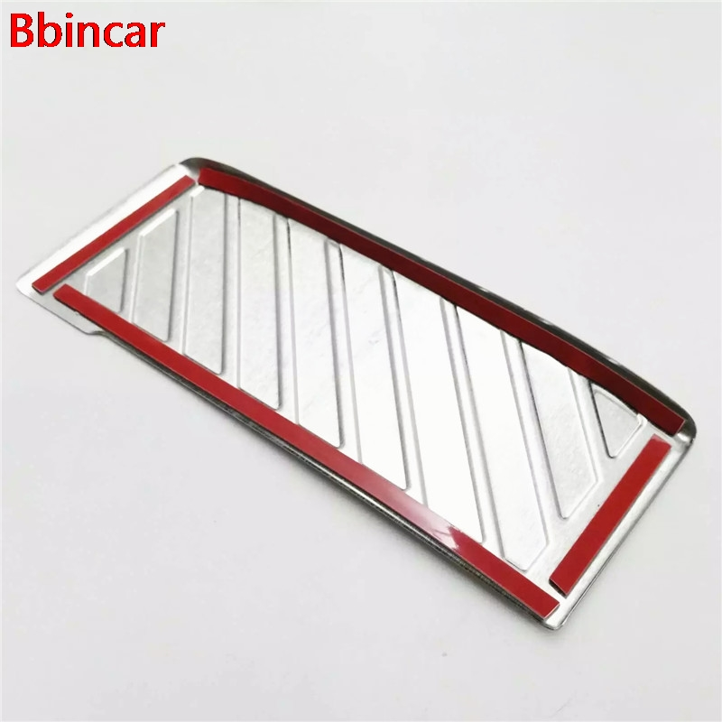 Bbincar Stainless Steel Interior Foot Rest Pedal Protector Cover Trim For Volkswagen VW Tiguan Second Generation 2017 2018
