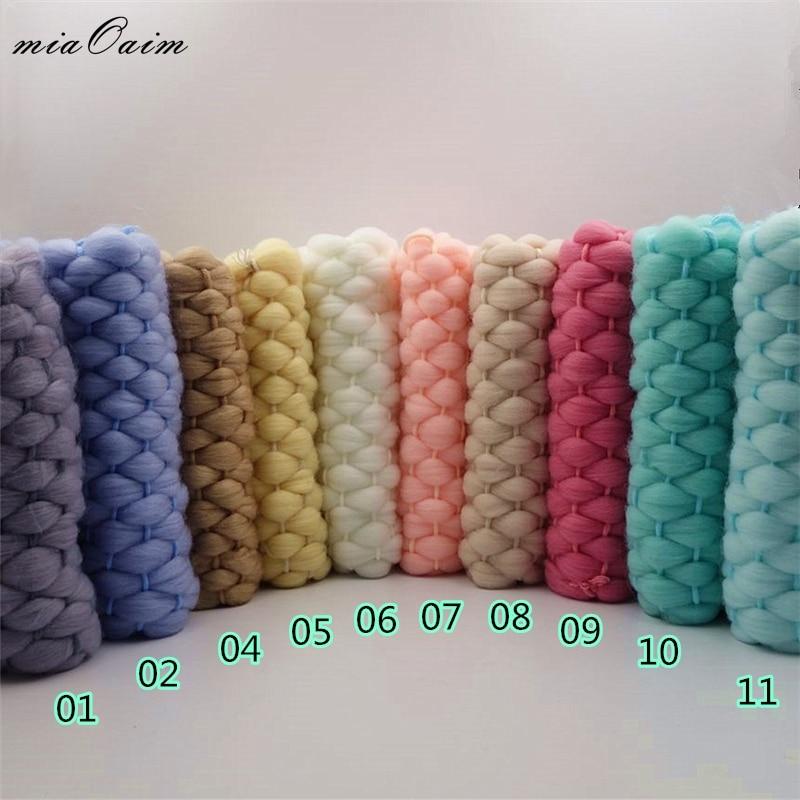 5pcs/lot 45x40cm Handmade Lopi Acrylic Blanket Basket Stuffer Filler Newborn Baby Photography Backdrops Studio Props Shower Gift