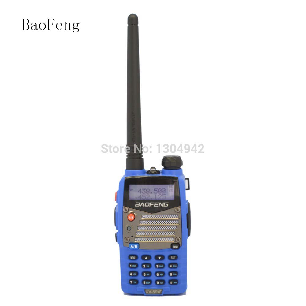 New BAOFENG UV-5RA+ Plus Blue Walkie Talkie 136-174MHz&400-520 MHz Two Way Radio With Free Shipping+Free Earpiece Telecom Parts