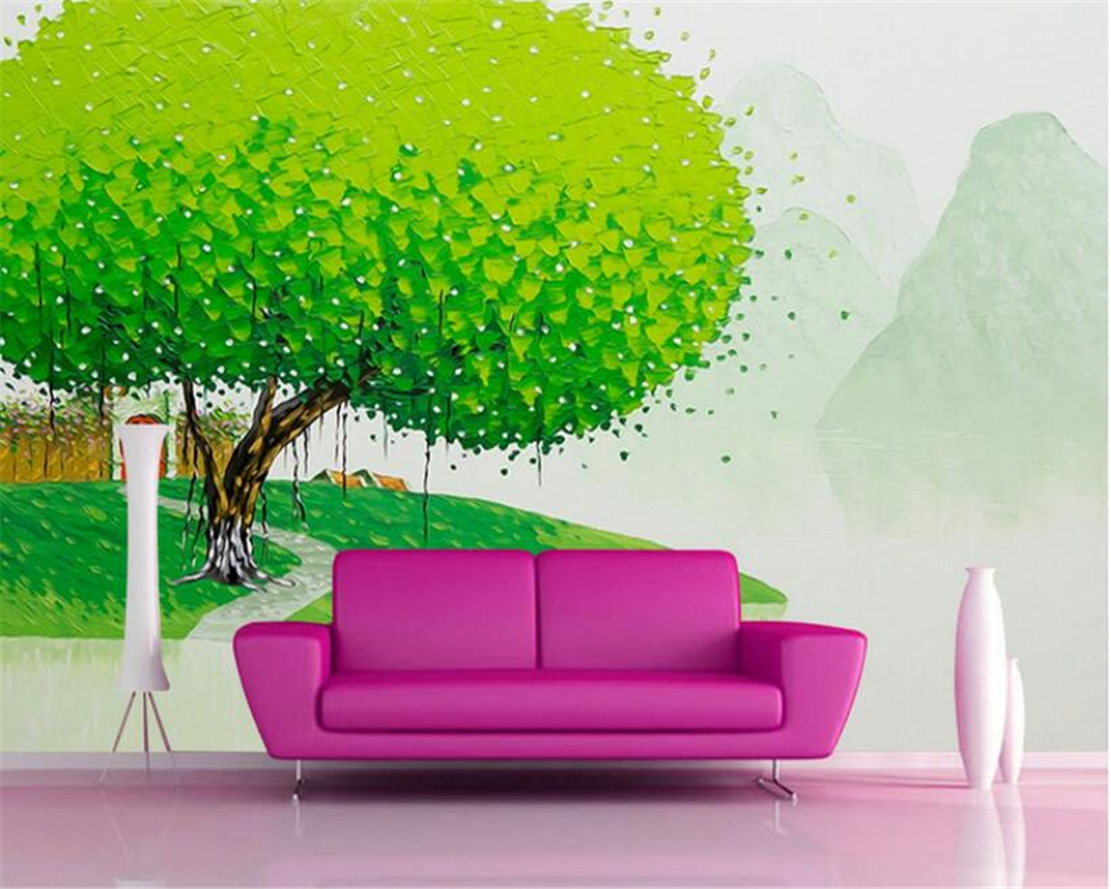 beibehang simple interior decoration wallpaper beautiful scenery