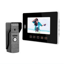 Fashionable Touch Buttons 7 Inch Color LCD Video Door Phone Intercom System Door Release Unlock Doorbell Camera