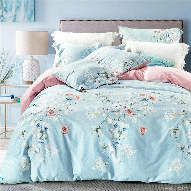 Online Get Cheap Blue Floral Duvet Aliexpress Com