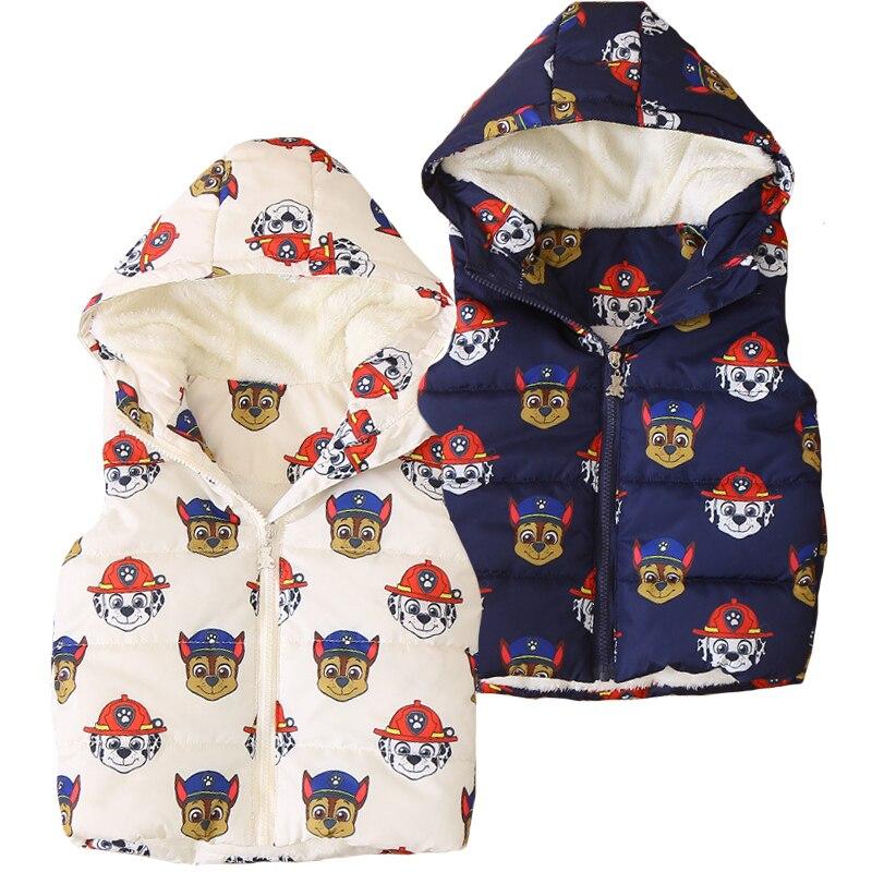 2018 Autumn Girls Vest Hooded Boys Vests Plus Velvet Cartoon Children Vest Winter Baby Girls Waistcoats Kids Sleeveless Jackets цена 2017