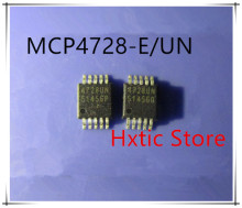 NEW 10PCS/LOT MCP4728-E/UN MCP4728 4728 4728UN MSOP10 DAC 12BIT W/I2C IC