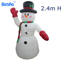 X115 BENAO DHL free shipping 2.4m high Hot Sale Inflatable Snowman for Christmas,inflatable Snowman for promotion
