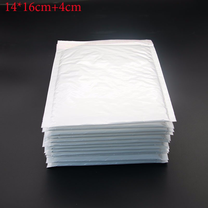 50 Pieces / Hand (14 * 16cm +4 Cm) Retro White Envelopes Bubble Bags High-Quality Style Packaging Supplies
