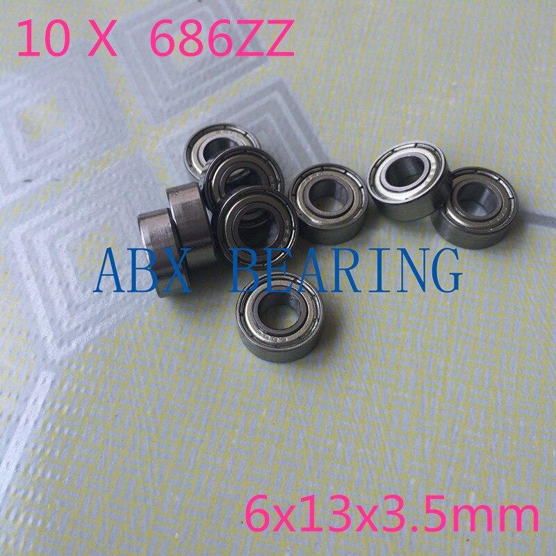 10pcs S686ZZ stainless steel deep groove ball bearing 6x13x3.5mm miniature bearing
