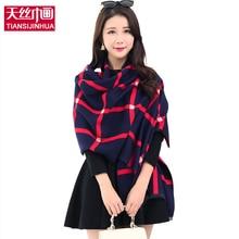 2016 Brand Designer Plaid Tartan Scarf Acne Studios 190CM Womens Winter Scarfs Best Quality Lmitation Cashmere Shawl Scarves
