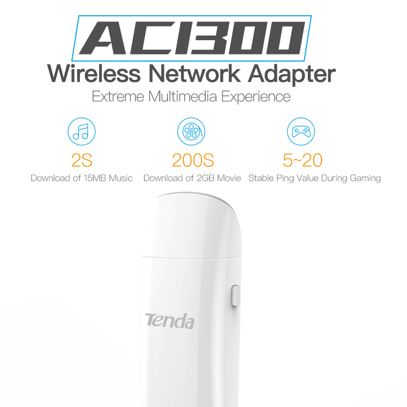 Image 2 - Tenda U12 1300Mbps Wireless USB Network Cards, AC Dual Band 2.4G/5.0GHz Gigabit WiFi USB Network Adapter,USB 3.0, Plug and Play-in Network Cards from Computer & Office