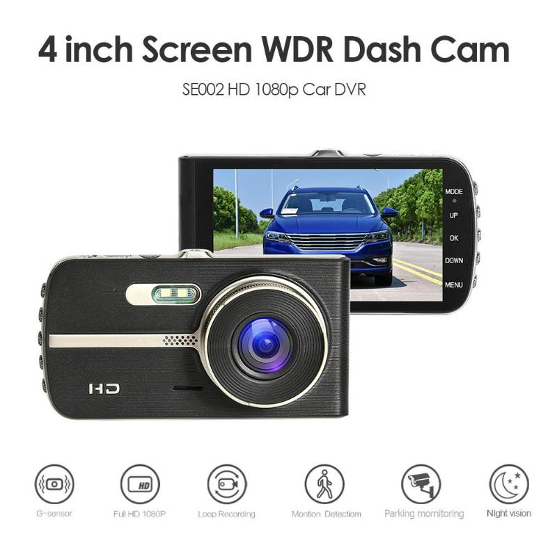 Car DVR Driving-Recorder Dashboard-Camera Night-Vision WDR HD SE002 4inch-Screen
