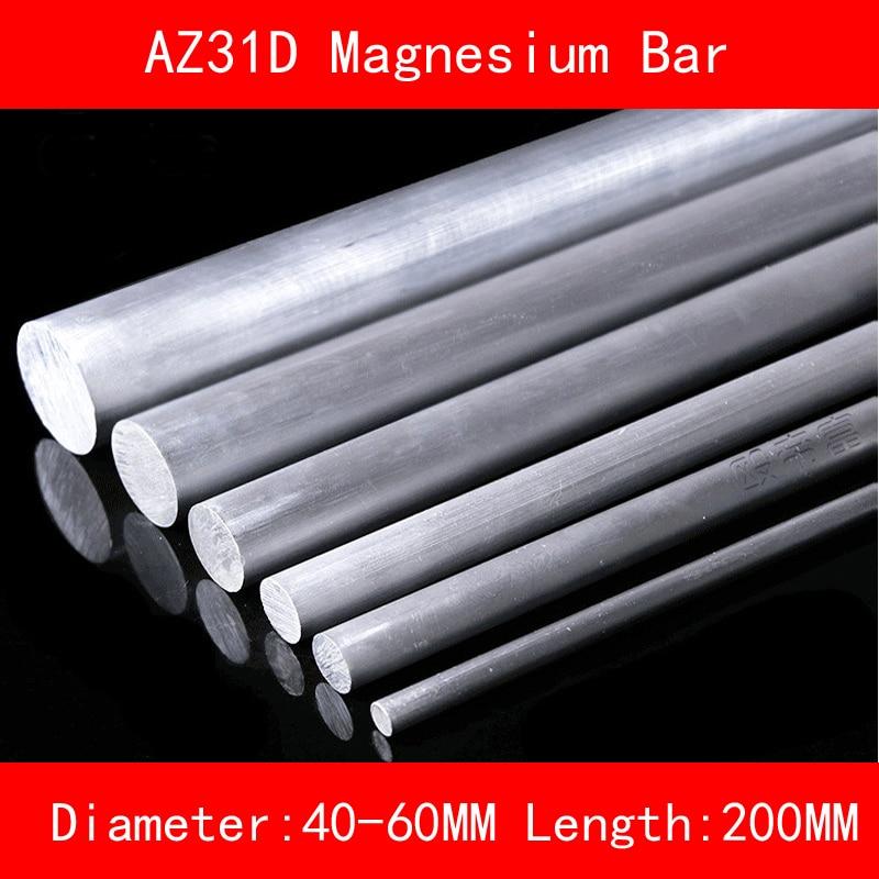 Diameter 40mm 50mm 60mm Length 200mm AZ31D Magnesium Bar Mg Metal rod for DIY Lab Industrial austria ruwido i 1k 100k 220k 470k axis length 50mm