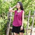 Summer Style Solid Linen Women Tank Top Mori girl Brand Casual Loose Tank Tops Green Yellow White Linen Vest Shirt Camis B075