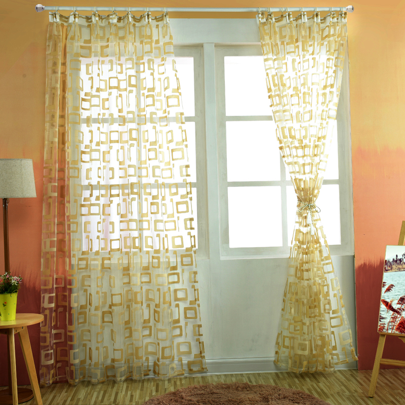 Organza Window Curtains Readymade Sheer Curtain Panels