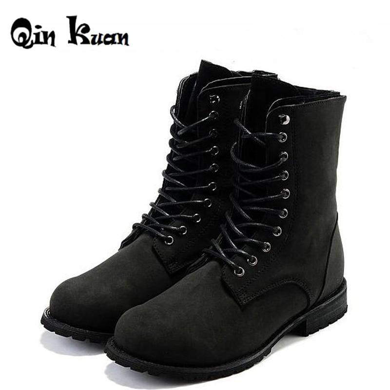 XingDeng Brand Retro Combat Boots Winter England Style ...