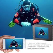Action Camera Waterproof Sports Video Camera HD 4K WiFi 2 inch LCD Screen Outdoor Diving Riding Photo Shooting Video Recording