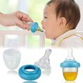 High Quality Safe Baby Squeeze Medicine Dropper Dispenser 2017  Baby Pacifier Needle Feeder Feeding Flatware Utensils PP 45