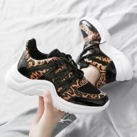 women height increasing animal prints sneakers summer 2019 zapatillas mujer fashion sports shoes wear resistant ladies footwear