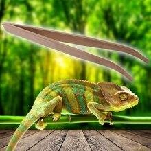 Длинный Супер рептилий деревянный пинцет зажимы 28 см и 16,5 см размер лягушка паук инструмент для уборки и кормления террариума