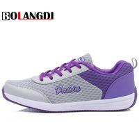 Bolangdi Novas Mulheres Correndo Sapatos Altura Crescente Esporte Luz Sapatos Da Marca Plataforma de Saúde Perder Peso Mulheres Tênis Respirável