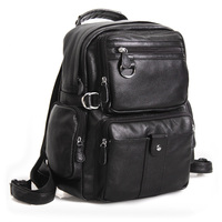 d65914471526 TIDING Unisex Large 100% Genuine Leather Backpack Travel Bags School bag  3001