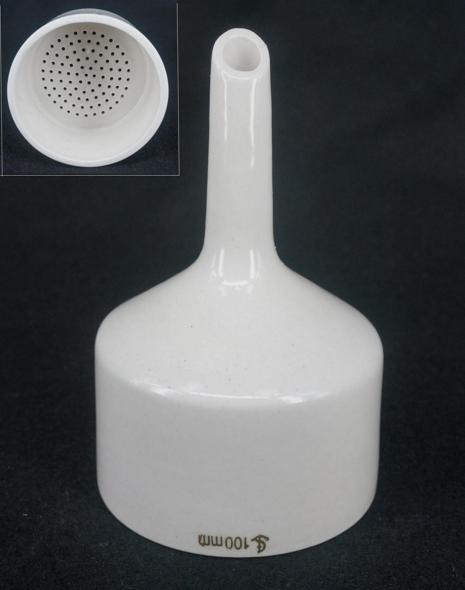 100mm Porcelain Buchner Funnel Chemistry Laboratory Filtration Filter Kit Tools Porous Funnel