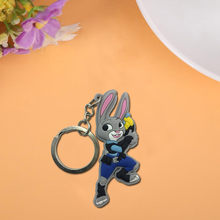 1PCS Zootopia Cute Cartoon Keychain Key Ring Gift For Women Girls Bag Pendant PVC Figure Charms Key Chains Jewelry porte clef(China)