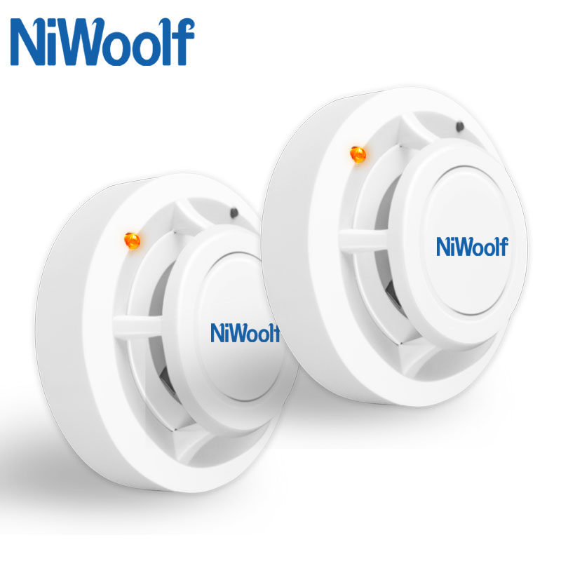 Niwoolf Wireless Fire Protection Smoke Detector Portable Alarm Sensors For Home Security Alarm System In Our Store