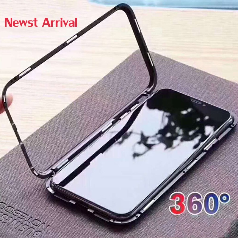 3318da01624 URMINE Magnet Absorption Black Transparent Case 360 Full Protection Metal  Magnet Flip Cover for iPhone 6. Mouse over to zoom in