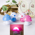 EU US Plug Night Light Illumination Light sensor automatic startup LED Cartoon Mushroom Bed Lamp Home